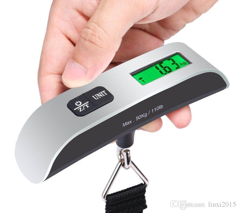 Fashion Hot Portable LCD Display Electronic Hanging Digital Luggage Weighting Scale 50kg*10g 50kg /110lb Weight Scales SN599