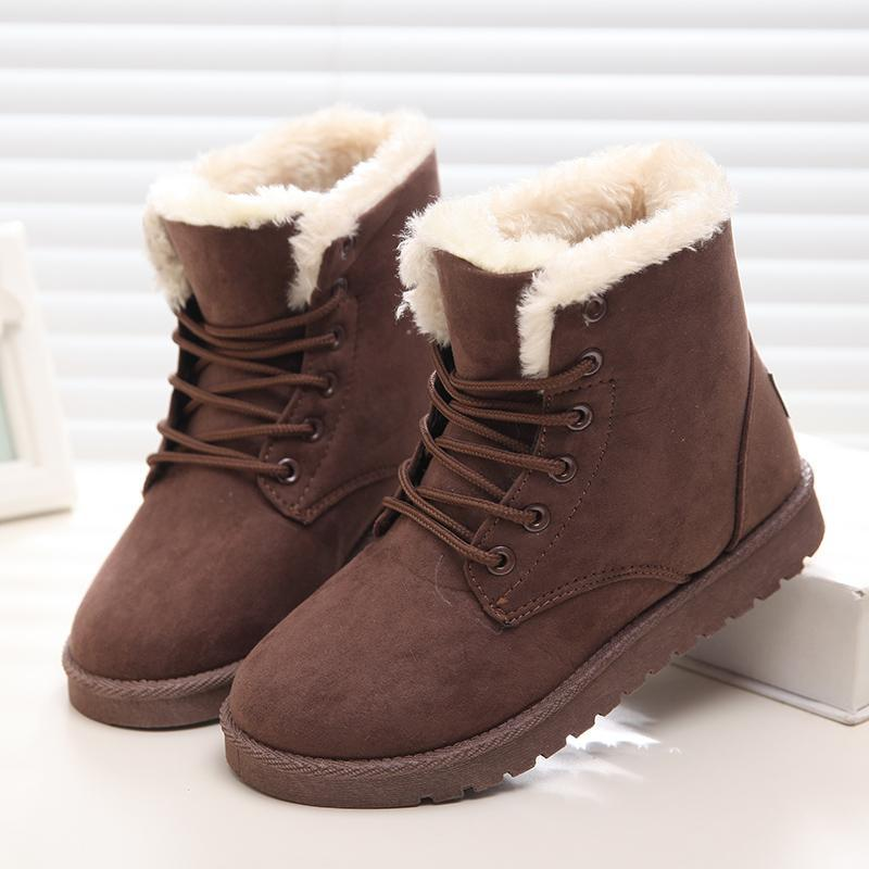New Warm Winter Boots For Women Ankle Boots Snow Girls Boots Female Shoes  Suede With Plush Insole Botas Mujer Womens Boots Boots Uk From Candan f3003c0bd4