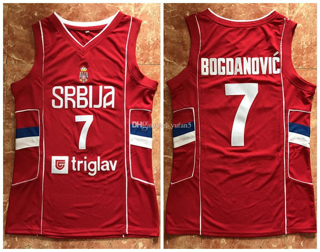 5e178150999 2019  7 Bogdan Bogdanovic Team Serbia Retro Classic Basketball Jersey Mens  Stitched Jerseys From Yufan5