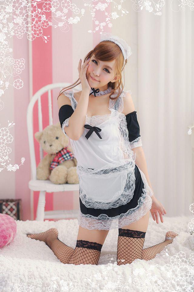 Sexy Costumes intimates Frauen heißen exotischen Kleid Dessous Mädchen Kostüme Sex Kopfbedeckung + Kleid + Arm Ärmel Sets, keine Strümpfe