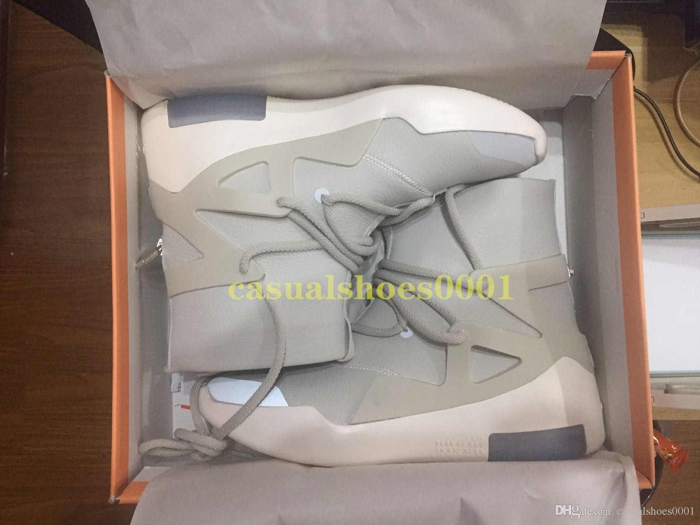 Lager x Markenschuhe Air Fear Of God 1 Sneaker Herren Sneaker Frosted Spruce Orange luxe High Bottom Authentic Schuhe Designer Größe 40-46 s06