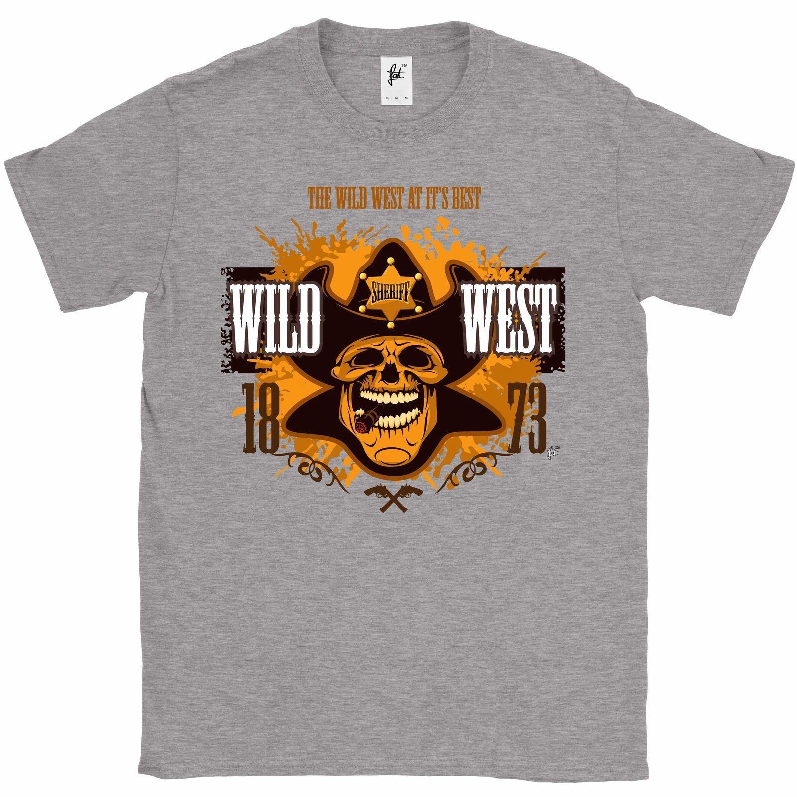 f98cebef6414 Дикий Запад в это лучший Ковбой Шериф череп мужская футболка с капюшоном  хип-хоп ...