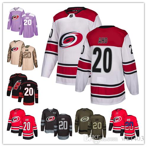 cd2dd4c980f 2019 Carolina Hurricanes Jerseys  20 Sebastian Aho Jersey Hockey Men Women  Youth Authentic Black Alternate Red Home White Away Stiched Jerseys From  Wk1403