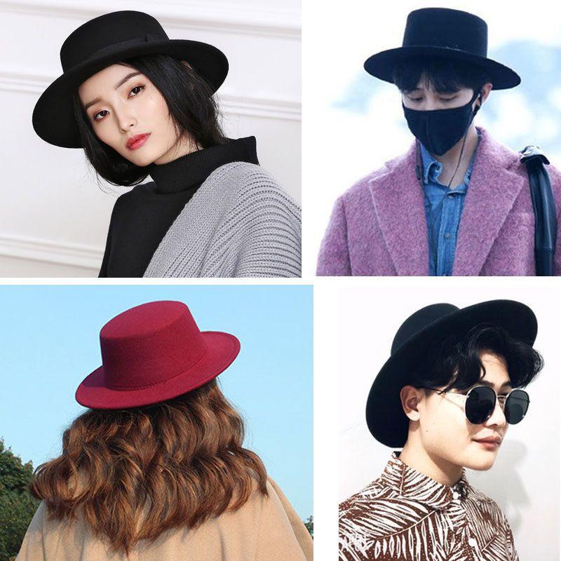 833709c0bb706 Vintage Wide Brim Black Fedora Hat Pork Pie Hat Men Ladies Felt Hats Men  Women Black Mens Hats Fedoras D19011103 Vintage Hats Mens Caps From  Yizhan02