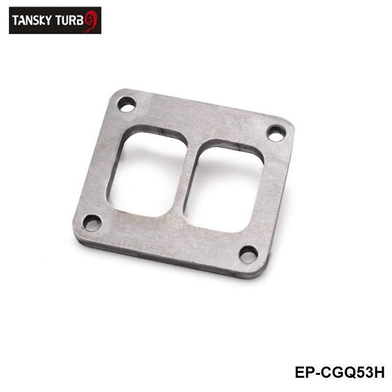 TANSKY، عالية الأداء T4 T04 GT45 GT40 التوربينات مدخل طوقا التوأم انتقل ولد شفة 1/2