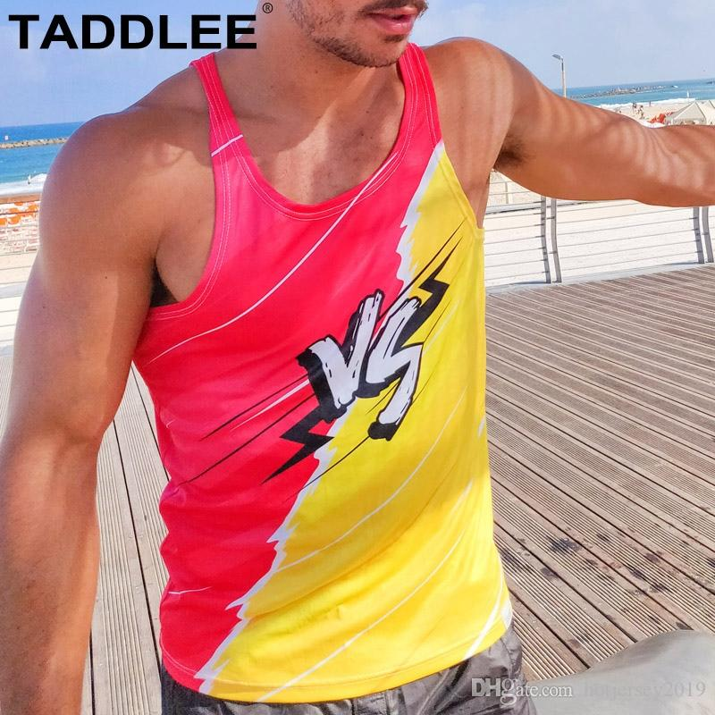 2435f3eaa80ef4 2019 Taddlee Brand New Mens Bodybuilding Tank Top Stringer Men Sport Fitness  Singlet Vest Clothes Tee Shirt Sleeveless Muscle Hip Hop  309311 From ...