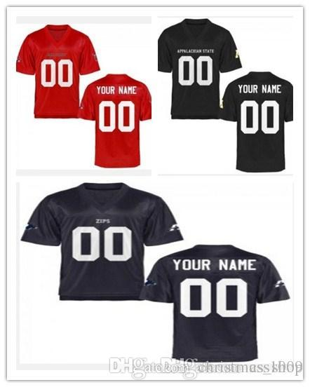 watch 6862b 4a05a Cheap custom Appalachian State Mountaineers Akron Zips Ball State Cardinals  Personalized Football Jersey - Red Black Navy Blue