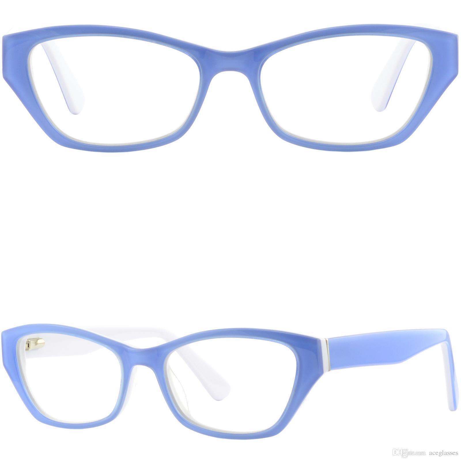 a727e28e8c Compre Cateye Womens Acetate Plastic Frames Gafas Graduadas Azul Cielo  Bisagras De Resorte A $30.41 Del Aceglasses | DHgate.Com