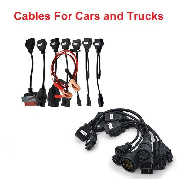 OBD2 Cables full set 8 car cables of car Trucks For VD TCS CDP Pro plus vd  tcs cdp Car Cable diagnostic Tool Interface cable