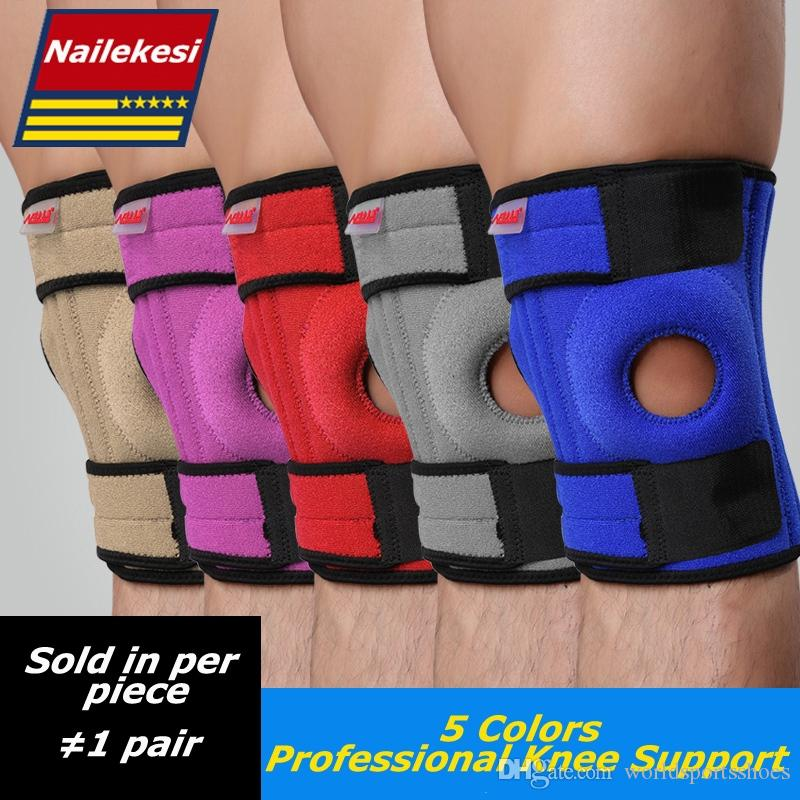 Sports Safety Reliable Adjustable Elastic Knee Support Brace Kneepad Patella Knee Pads Running Basketball Sports Safety Guard Strap For Men And Women Cheapest Price From Our Site