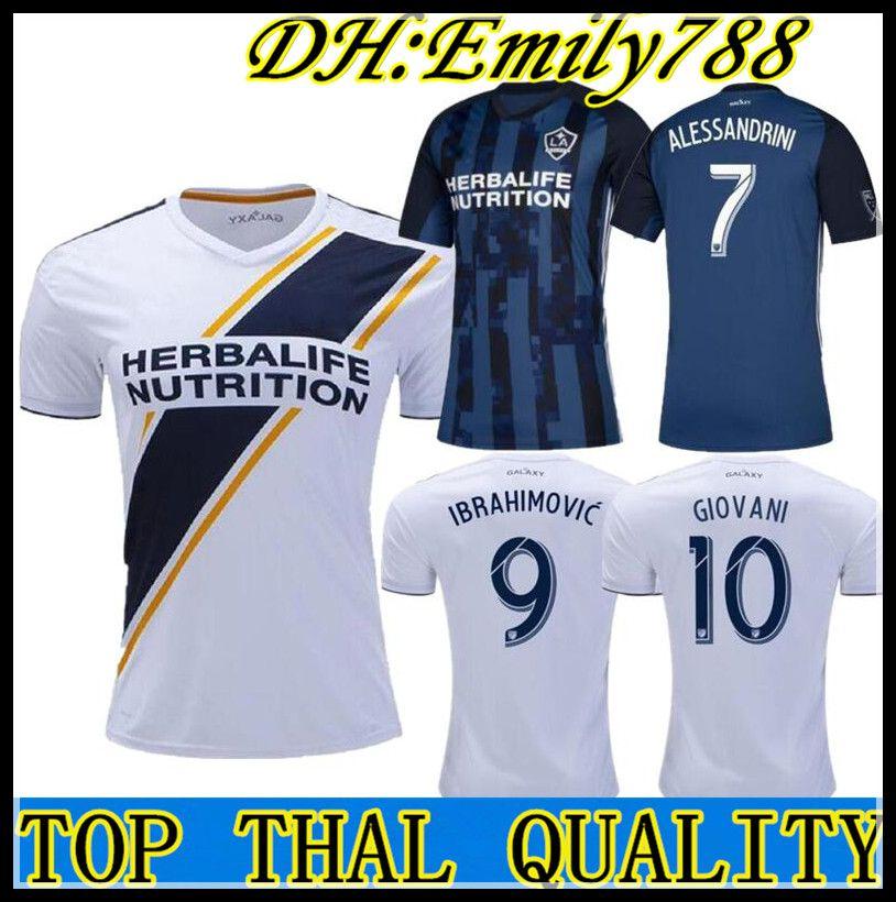 27b6fa92188 2019 MLS 2018 Los Angeles Galaxy Home Soccer Jersey 2018 LA Galaxy White  Soccer Shirt Customized # 9 IBRAHIMOVIC Football Uniform From Emily788, ...