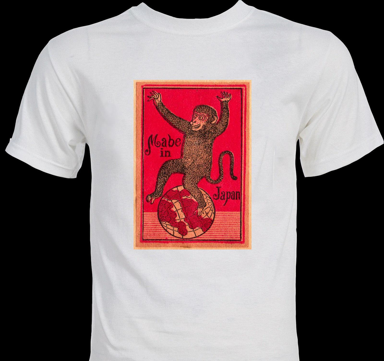Mabe in Japan Rare 1930's Japanese Cartoon Retro Monkey T-shirt colour jersey Print t shirt