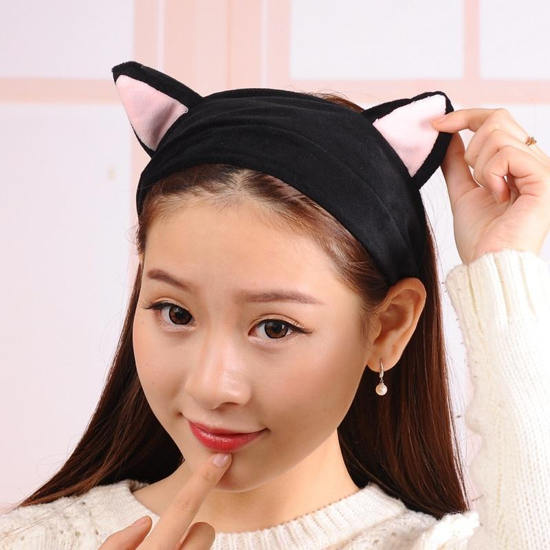 2018 Newly Lovely Cute Cat Ears Women Girls Elastic Stretch Hairband Party  Makeup Headband Head Wrap Ears Tools Gift 10 Style Decorative Hair Bands ... 93653140a32c