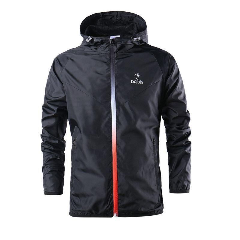 Sports Jacket Teenagers Boys Hooded Zipper Windproof and quick-drying Outwear Sporting Coat For Running Training jacket