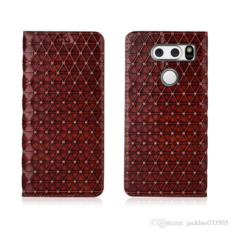 buy popular a1472 28472 Genuine Leather Case For LG V30 Cover Magnetic Case For LG V30 Flip Case  Leather Cover With Card Holder