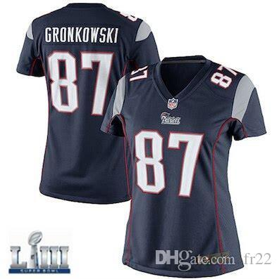 Patriots Rob Gronkowski Jersey Super Bowl LIII Tom Brady Julian Edelman  Custom American Football Jerseys Game Elite All Stitched Name Womens Tom  Brady ... ee0f94552