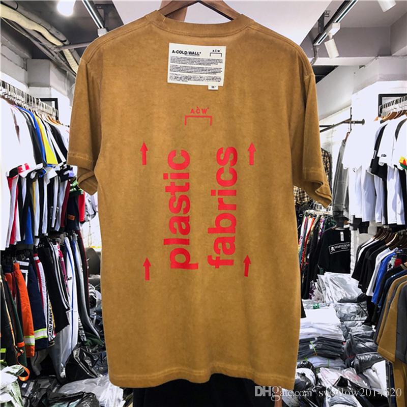 f4c8ee6a0cf 2019 Summer Men Cotton T-shirt A-COLD-WALL ACW Logo Printed Plastic Fabrics  Women T Shirts Tees Hiphop GB Streetwear Men Cotton T-shirt A-COLD-WALL ACW  T ...
