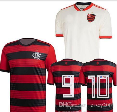 new product b7d97 7b2e3 2018 2019 font CR Flamengo soccer jersey home Red away White Flamenco  Camisa de futebol GUERRERO DIEGO football shirt Uniform