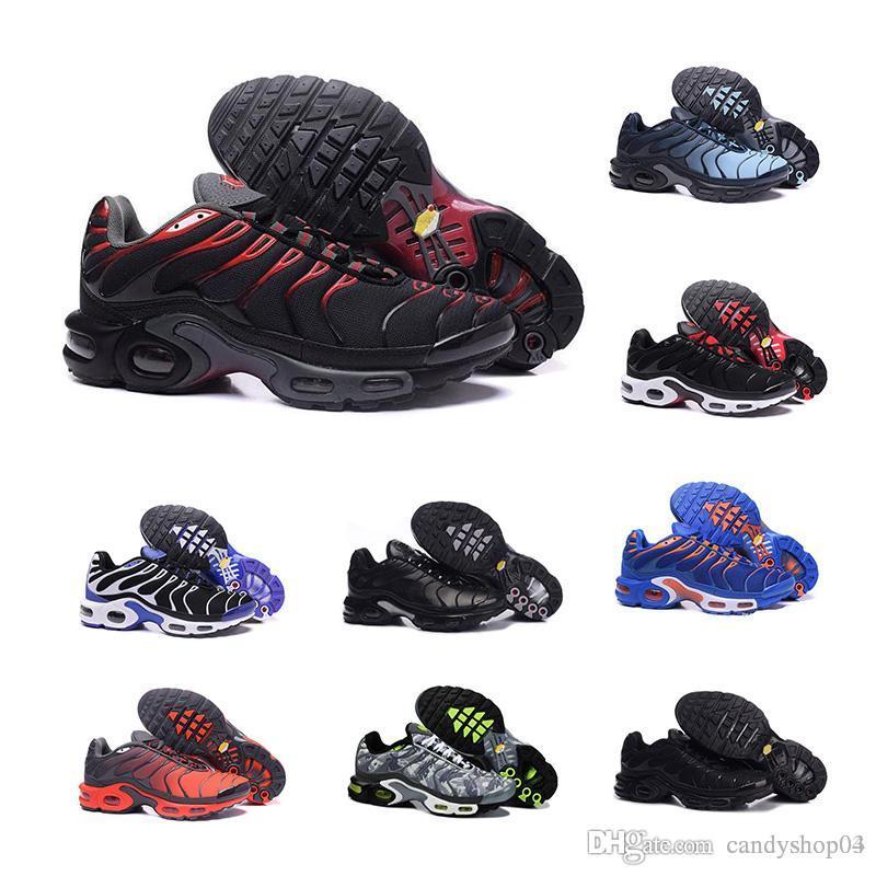 best service 63fad 87f51 nike air max 2018 New Mercurial Plus Tn Ultra SE Negro Blanco naranja  Desinger Zapatos para correr Mujeres Hombres Zapatillas Deportivas Tamaño  36-46
