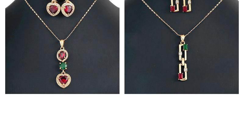 OUMEILY Jewelry Sets For Women Green African Beads Jewelry Set Nigerian Wedding Imitation Crystal Vintage Necklace Set