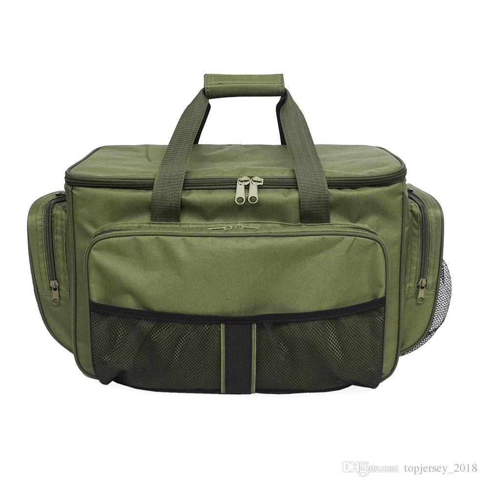 bf80372264b5 Lixada Reel Lure Fishing Bag Insulated Lunch Box 600D oxford fabric Fishing  Tackle Bag Case for Carp Pesca Hunting Hiking Picnic #263402