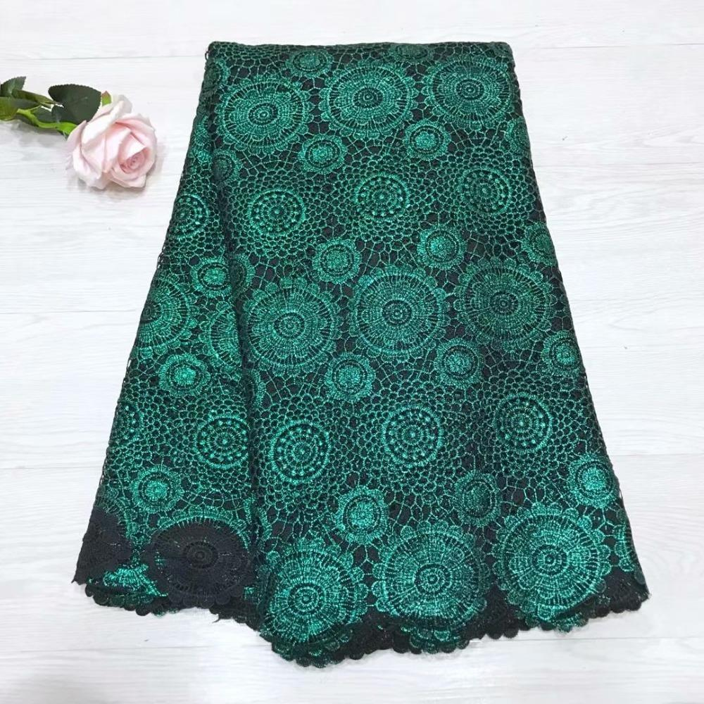 (5yards/pcs)2018 The Latest Milk Silk Hot-stamping Water-soluble Lace Beautiful Rope Lace Fabric High Quality Party Dress Zjy30