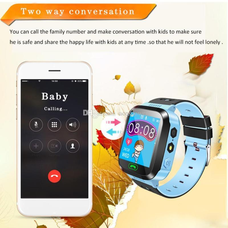 Q528 Child Kids Watch Tracker Child-guard Safe Anti Lost SOS GSM for Locator Smart Watches with Package