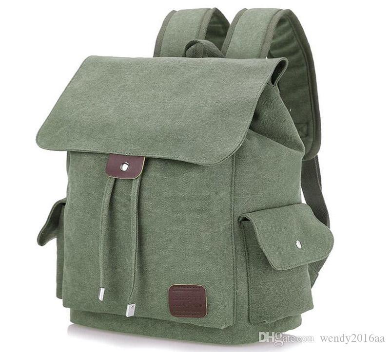 2019 Backpack Bag Men Women Unisex Canvas Plain Drawstring Laptop Bag  Student School Bag Bookbags Backpack Purse From Wendy2016aa e7317c9a1d70f