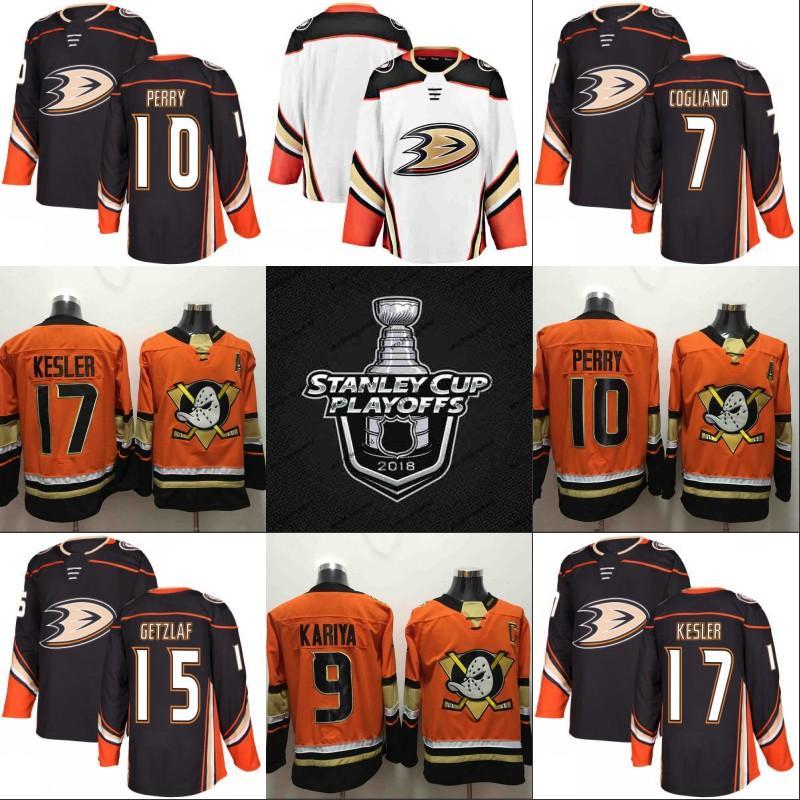 b7d460e4b Anaheim Ducks 2018 Stanley Cup Playoffs Mighty Ducks 10 Corey Perry 15 Ryan  Getzlaf 17 Ryan Kesler 33 Jakob Silfverberg Nick Ritchie Jersey UK 2019  From ...