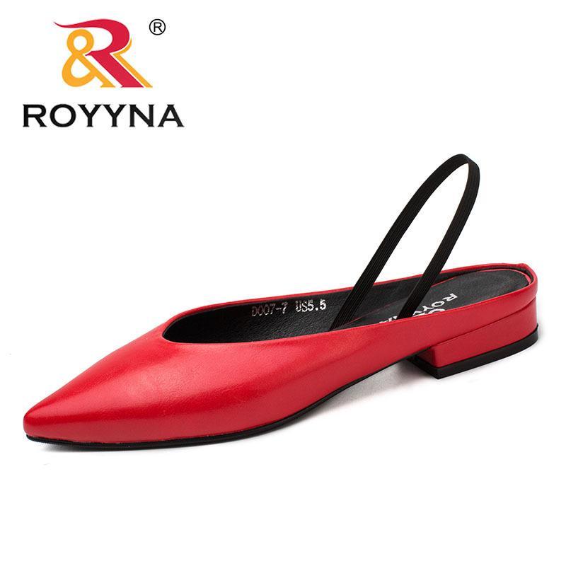 c4909a45 Compre 2019 ROYYNA Nuevo Estilo Elegante Mujeres Bombas Punta Estrecha  Zapatos De Mujer Tacones Cuadrados Vestido De Mujer Luz Cómoda Rápida Envío  Gratis A ...