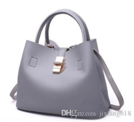 Single shoulder bag PU bucket bag fashionable European and American hand bill of lading shoulder cross body bag