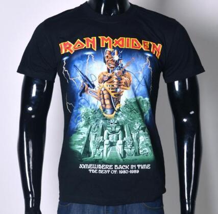 39154069a7279 Compre Nuevos Hombres 3D Iron Maiden Hip Hop Camiseta Cráneo Impreso  Camiseta Moda De La Calle Camisetas Camisetas Tops Tallas Grandes S XXL T93  A  25.64 ...