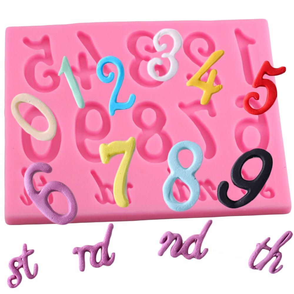 Sugarcraft Letter Number Silicone Mold Fondant Mold Cake Decorating Tools Chocolate Kitchen Baking Mould