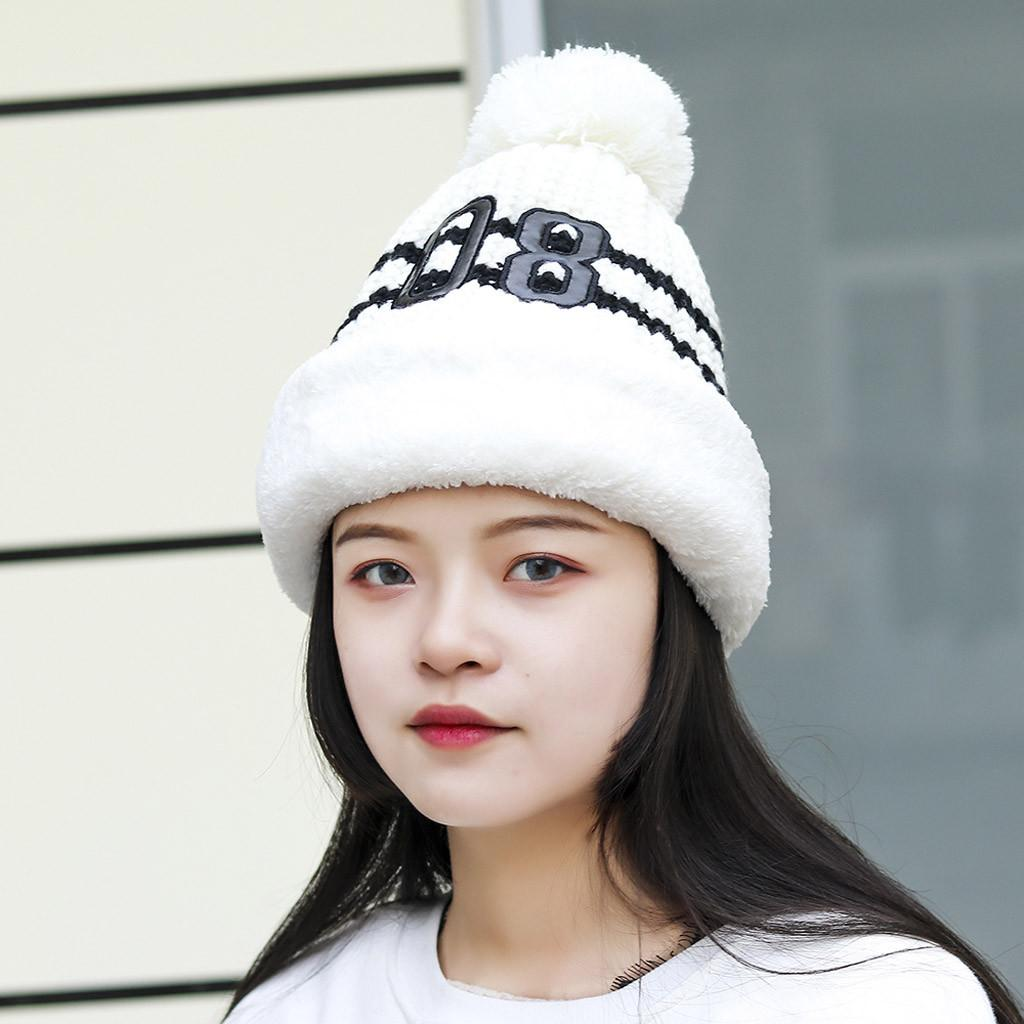 2018 Fashion Women S Winter Hat Plus Velvet Thick Knit Warm Hat Hair Ball  Neck Warmer Beanies For Girls Caps Beanie Hats For Women Beanies For Women  From ... 39bd5a6eb