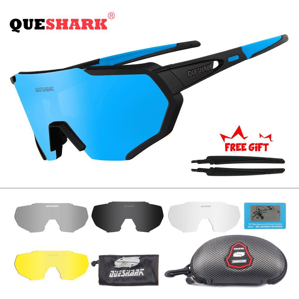08c5938cc9 QUESHARK 2019 Nuevo Diseño Polarizado Gafas De Ciclismo Para Hombre Mujer  Bicicleta Gafas De Sol De Ciclismo 5 Lentes Espejo UV400 Goggles Por  Suipao, ...