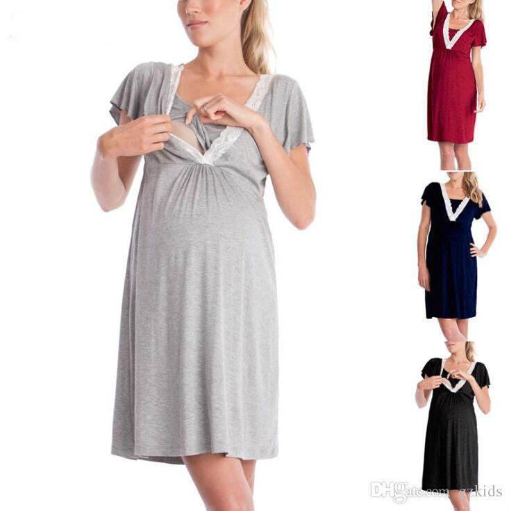 430c35b721 2019 Pregnant Women S Pajamas Hospital Nightgown Womens Sleeveless Maternity  Nursing Breastfeeding Sleepwear S 2XL From Gzkids