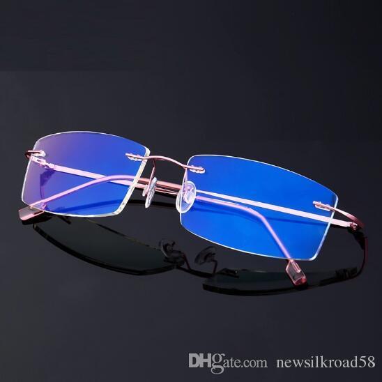 5128a2e1203 New Arrival Anti Blue Ray Eyeglasses Men Women Ultra-light Rimless ...