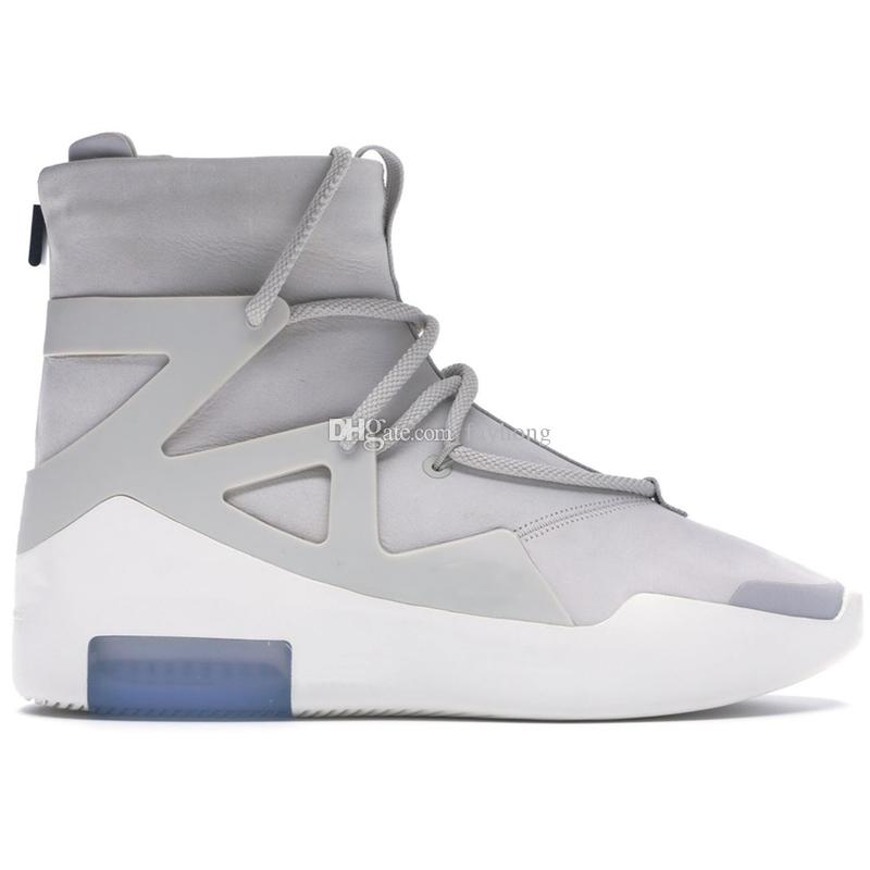 2019 Fear Of God Uomo Scarpe da corsa per donna Designer Sneakers Sport Mens Scarpe da allenamento Light Bone Black FOG AR4237-002.