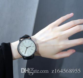 e193f9d5e21 Compre Relógio De Moda Masculino Feminino Departamento À Prova D  Água Fina  Minima Lista De Relógios De Pulso Pequeno Fresco E Elegante Nova Menina De  ...