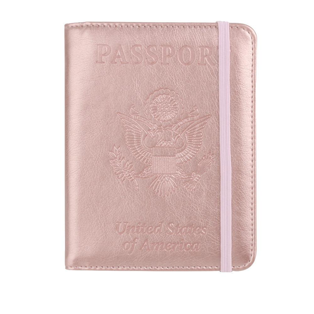 1d8ec0f24 2019 New Fashion Passport Case Cover Leather Passport Holder Wallet Cover  Case Rfid Blocking Travel Wallet Card Holder Bags Handbags For Women Cheap  Purses ...