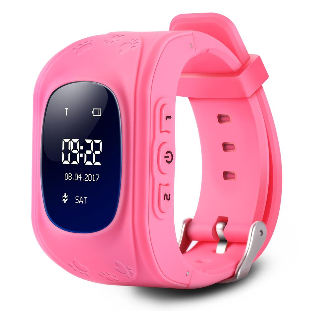 Professional OLED Display Children Kids Smart Wrist Watch GPS Tracker  Locator Anti-Lost Waterproof Smart Watch Free Shipping VB