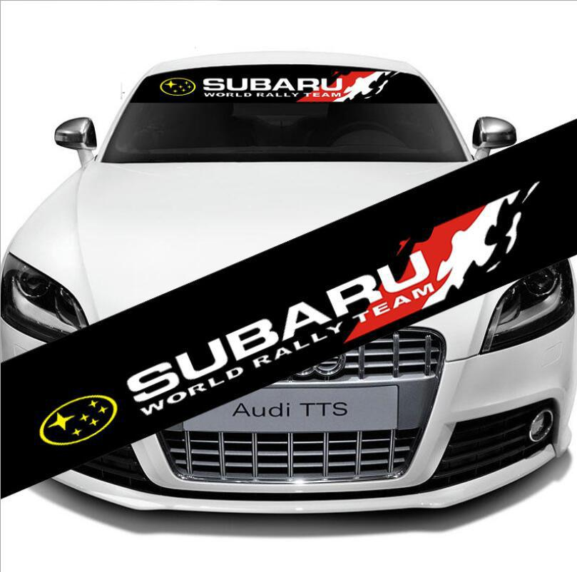 2019 Front Windshield Banner Decal Car For Subaru World Rally Team