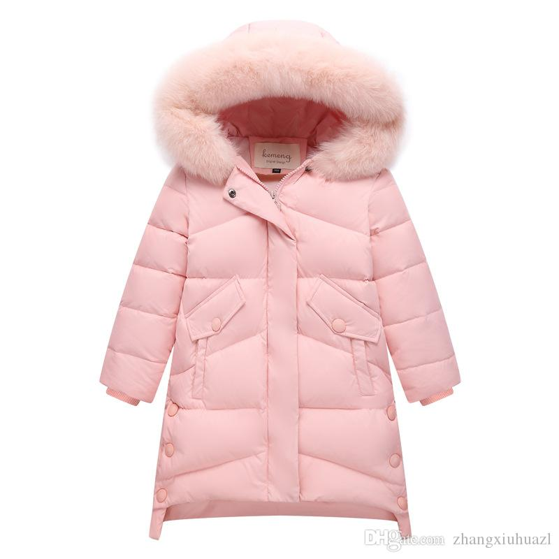 d7f2b403b446 2019 New Children Winter Duck Down Girls Thickening Warm Down ...