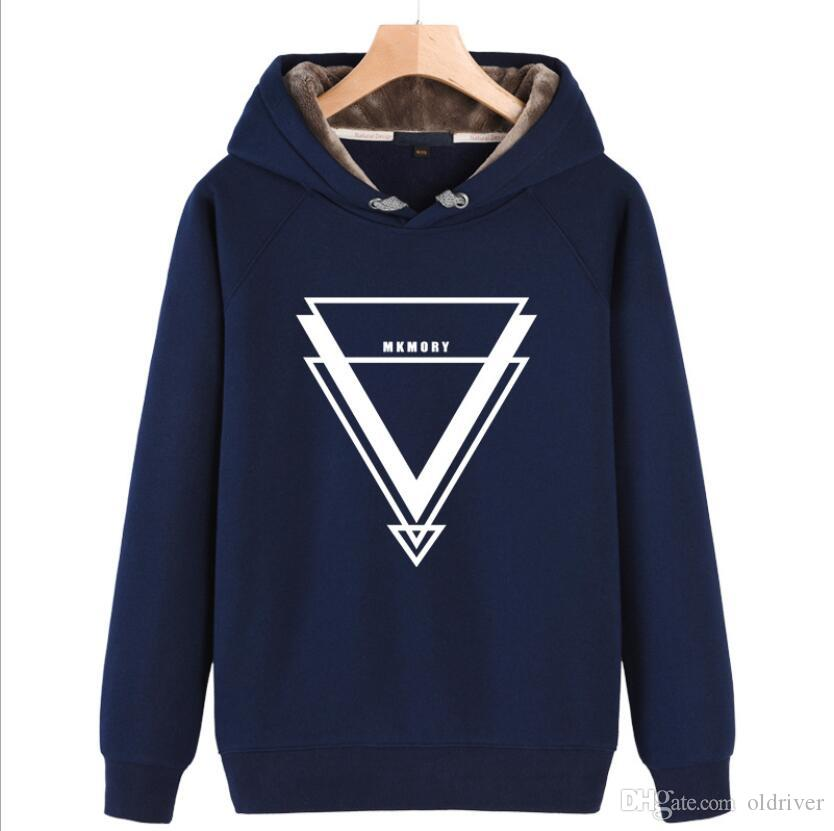 1118a7932fcf2 2019 Designer Mens Essentials Hoodies Casual Solid Color Triangle Printed Sweatshirts  Men Pullover Plus Velvet Hip Hop Sweatshirts From Oldriver