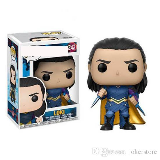 Funko Pop Thor Ragnarok Loki 242# Anime Figure Collectible Moble Hot Toys Birthdays Hot Sale New Arrvial Hot Sale Free Shipping