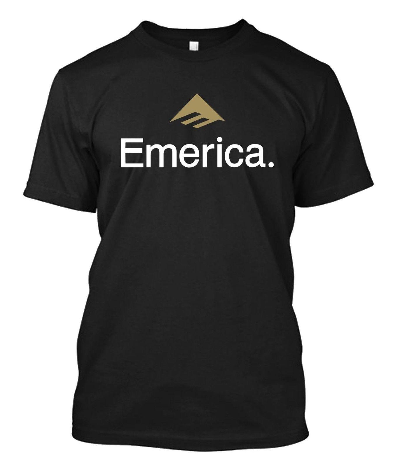 ce1c030a0b33bd Emerica - Skateboard Logo - Custom Men's Black T-Shirt Online with ...