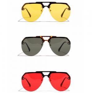 fb7a5a285687 2019 Oversized Half Frame Frog Sunglasses Women Vintage Brand Big Round  Eyewear Classic Unisex Travel Beach Retro Eyeglasses LJJT316 From  Sport no1