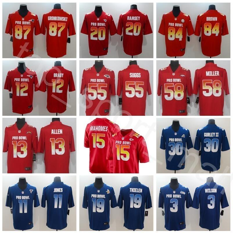 ... coupon for 2019 2019 pro bowl afc red jerseys 12 tom brady 87 rob  gronkowski 15 b3a2dcf40
