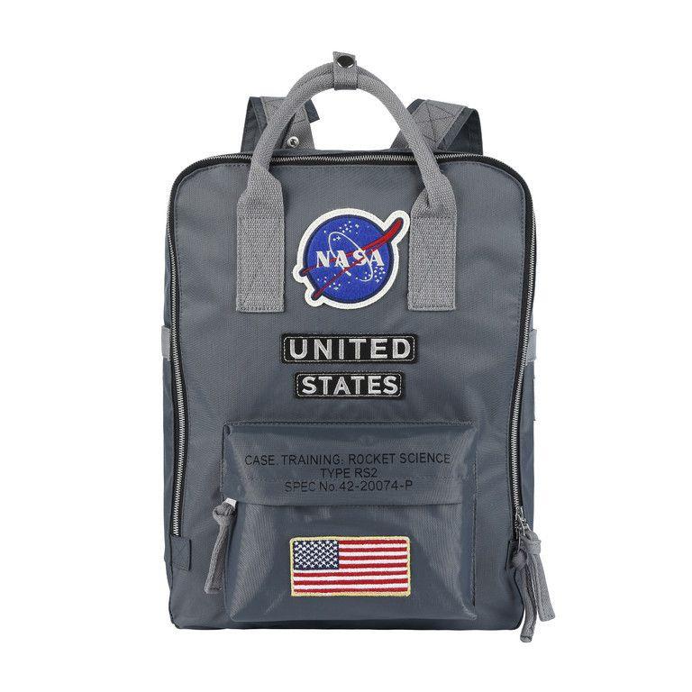 diseño de calidad bcff9 57380 Nuevo diseñador Mochila NASA Mochilas escolares Moda para hombres y mujeres  Paquetes de exterior Bolsa de viaje de camuflaje Portátil Mochila ...