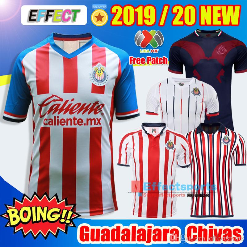 new styles 3aa27 edb83 NEW 2019 2020 LIGA MX Club Chivas de Guadalajara Soccer Jersey 18/19/20  Camisa de Futebol Home Third Jerseys PULIDO Football Shirts Kit